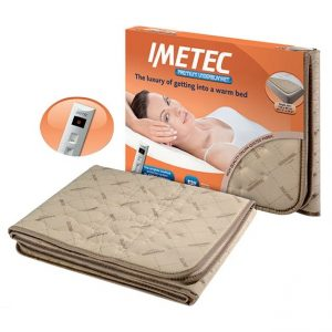 Imetec Double Bed Dual Control Washable Heated Underblanket