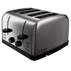 Russell Hobbs Futura 4 Slice Toaster Stainless Steel