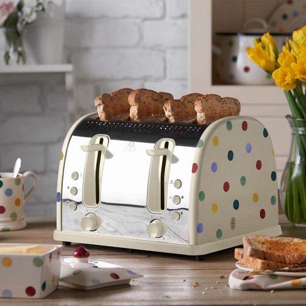 Russell Hobbs Emma Bridgewater 4 Slice Toaster Polka Dot