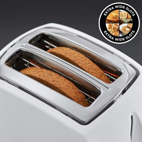 Russell Hobbs Textures White 2 Slice Toaster