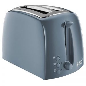 Russell Hobbs Textures 2 Slice Toaster Grey