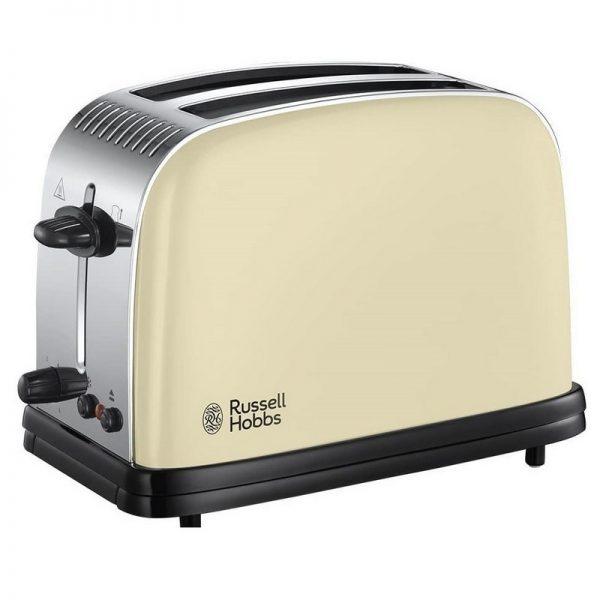 Russell Hobbs Colours Plus 2 Slice Toaster Cream