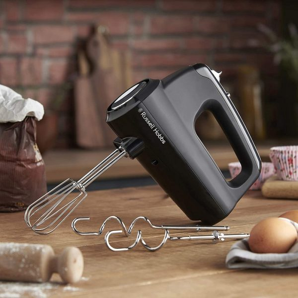 Russell Hobbs Hand Mixer with Dough Attachments - Black