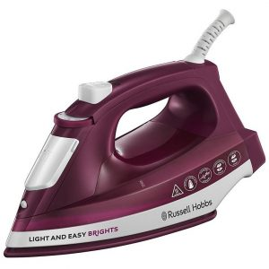 Russell Hobbs Light & Easy Brights Steam Iron - Mulberry