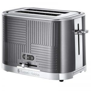 Russell Hobbs Geo 2 Slice Toaster Steel