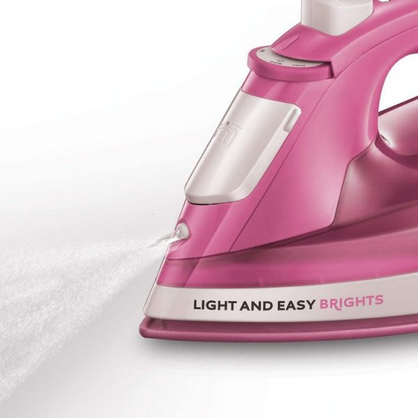 Russell Hobbs Light & Easy Brights Steam Iron - Rose