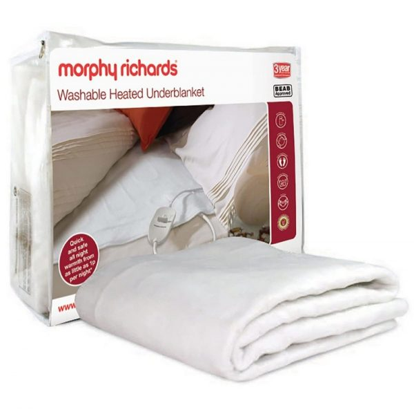 Morphy Richards Single Bed Washable Heated Underblanket