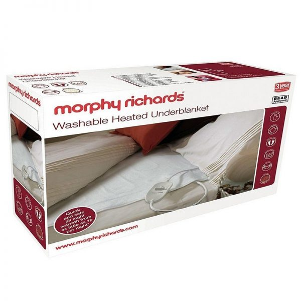 Morphy Richards Single Bed Washable Heated Underblanket Boxed