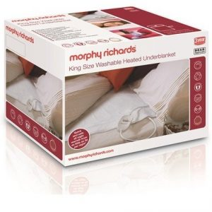 Morphy Richards King Bed Washable Heated Underblanket Boxed