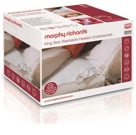 Morphy Richards King Bed Washable Heated Underblanket Boxed