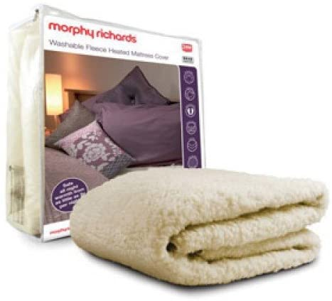 Morphy Richards Single Bed Washable Fleece Heated Mattress Cover
