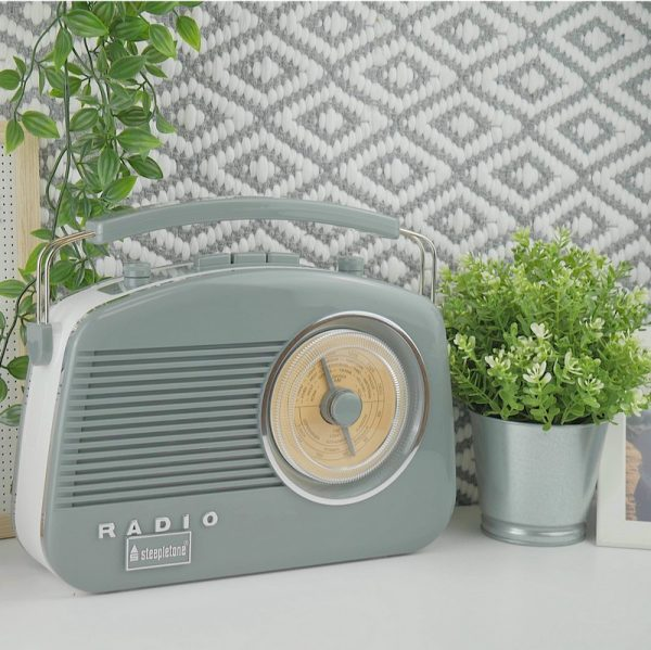 Steepletone Brighton Retro Radio - Grey