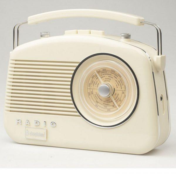 Steepletone Brighton Retro Radio - Beige