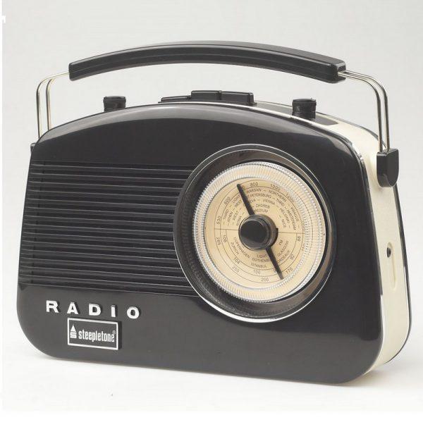 Steepletone Brighton Retro Radio - Black