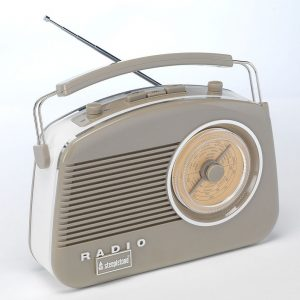 Steepletone Brighton Retro Radio - Mocha