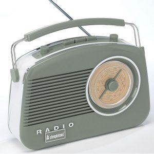 Steepletone Brighton Retro Radio - Sage Green