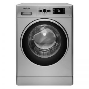 Whirlpool 8KG 1400 Spin Washing Machine 6th Sense - Silver