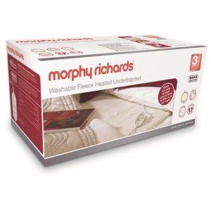 Morphy Richards Single Bed Washable Fleece Heated Underblanket Boxed