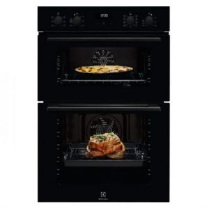 Electrolux Built In Double Oven with Catalytic Liner Black