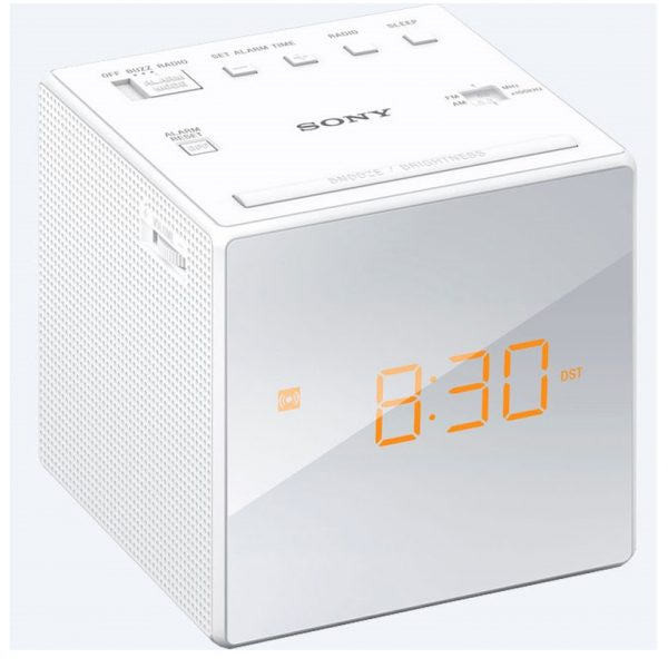 Sony LED Clock Radio - White