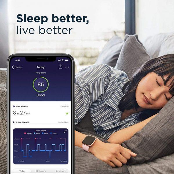 Fitbit Versa 2 Fitness & Smart Watch - Black / Grey