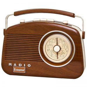 Steepletone Brighton Retro Radio - Wood Effect