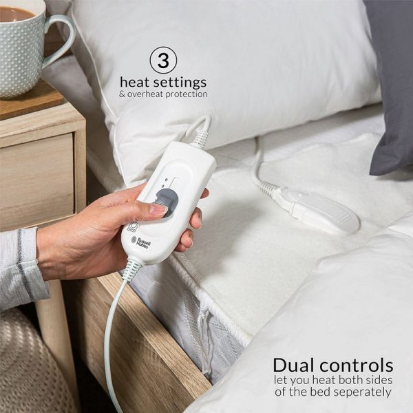 Russell Hobbs King Bed Dual Control Washable Heated Underblanket