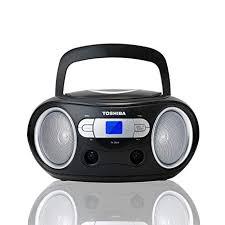 TOSHIBA BLACK CD RADIO BOOMBOX AUX HEAD