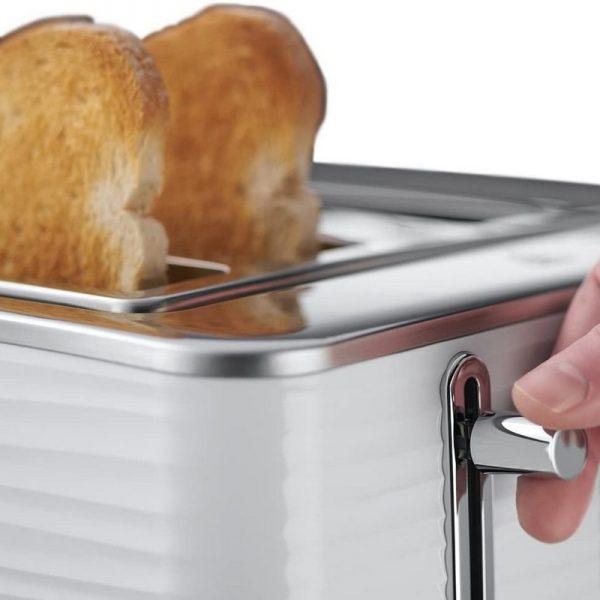 Russell Hobbs Inspire 4 Slice Toaster White