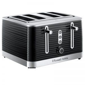 Russell Hobbs Inspire 4 Slice Toaster Black