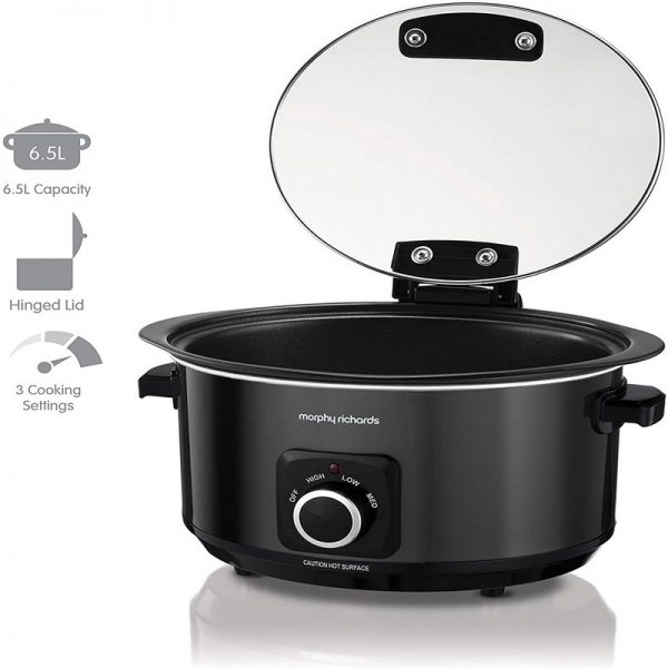 Morphy Richards 6.5L Sear & Stew Slow Cooker with Hinged Lid