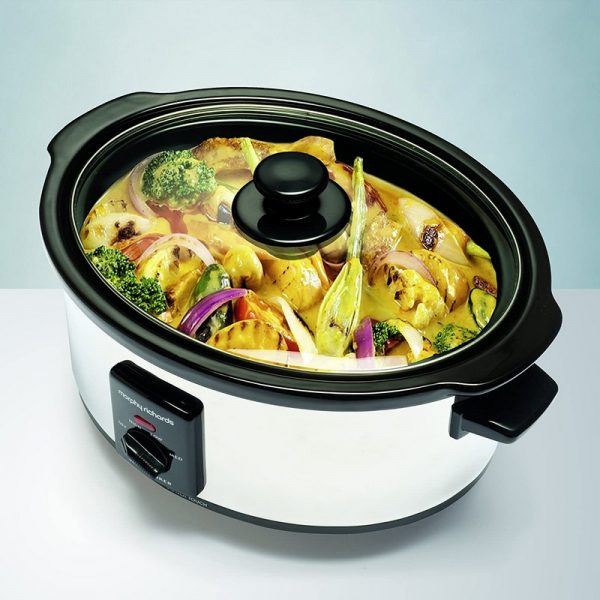 Morphy Richards 3.5L Oval Slow Cooker – Stainless Steel