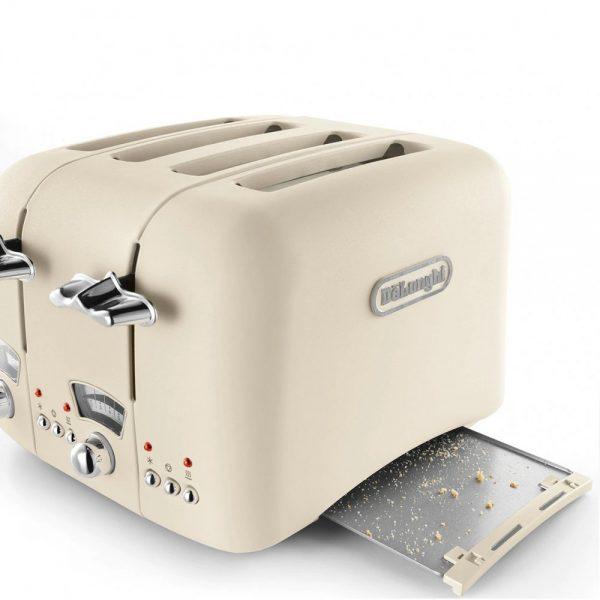 DeLonghi Argento Flora Toaster Beige