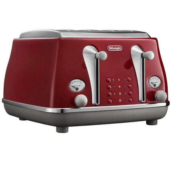 DeLonghi Icona Capitals Toaster Red