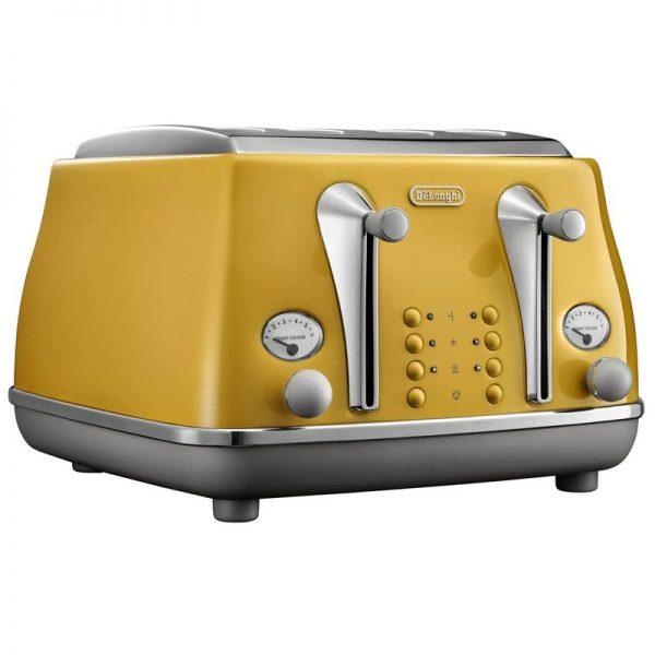 DeLonghi Icona Capitals Toaster Yellow