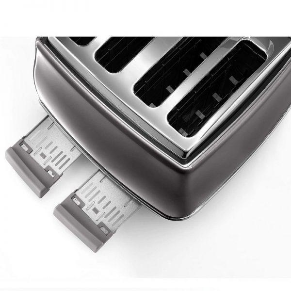 DeLonghi Icona Metallics Toaster Grey