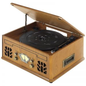 Itek Classic 4 in 1 Music System – Light Wood