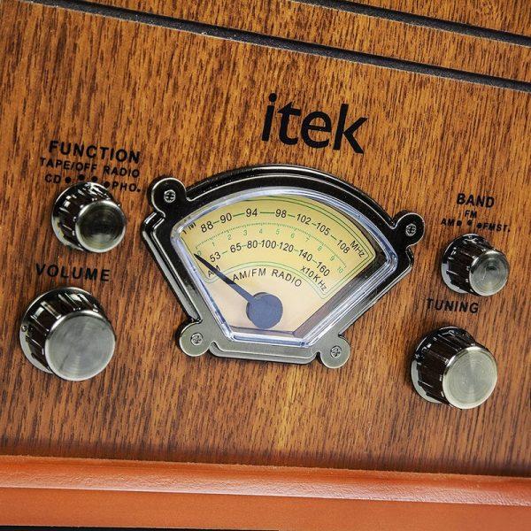 Itek Classic 4 in 1 Music System – Light Wood