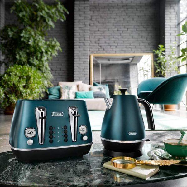 DeLonghi Distinta Flair Kettle Allure Green
