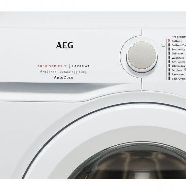 AEG 6000 Series 8KG 1400 Spin Autodose Washing Machine L6FBG841CA