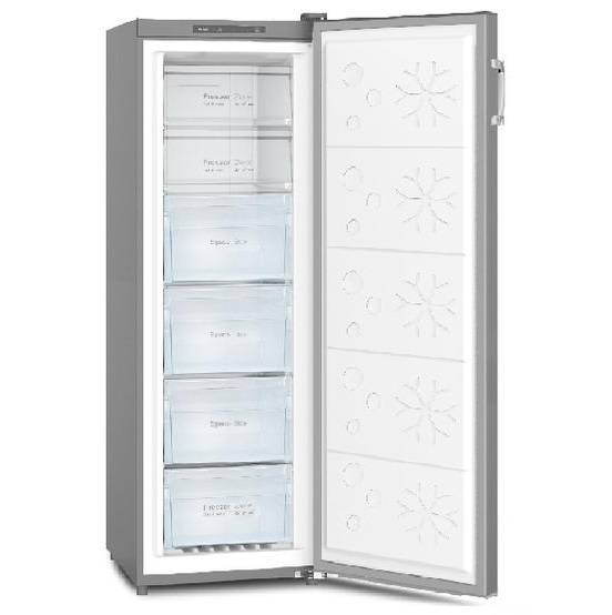 Powerpoint 54CM 206L Tall Larder Freezer Stainless Steel