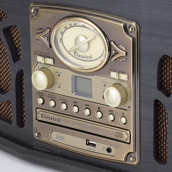 Itek Classic 5 in 1 Music System – Dark Wood