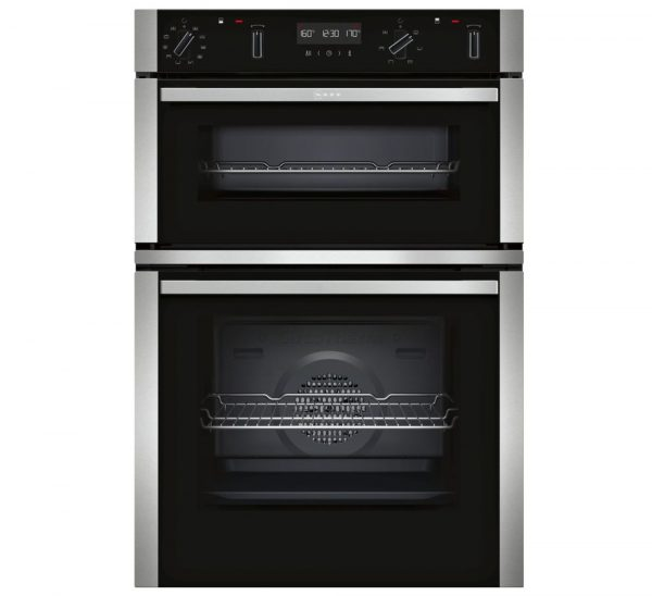 Neff N50 Built-in Double Oven with CircoTherm & Pyrolytic Cleaning – Stainless Steel ¦ U2ACM7HN0B