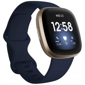 Fitbit Versa 3 Fitness Smart Watch – Midnight Blue
