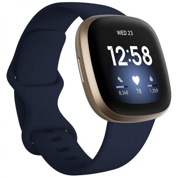 Fitbit Versa 3 Fitness Smart Watch – Midnight Blue