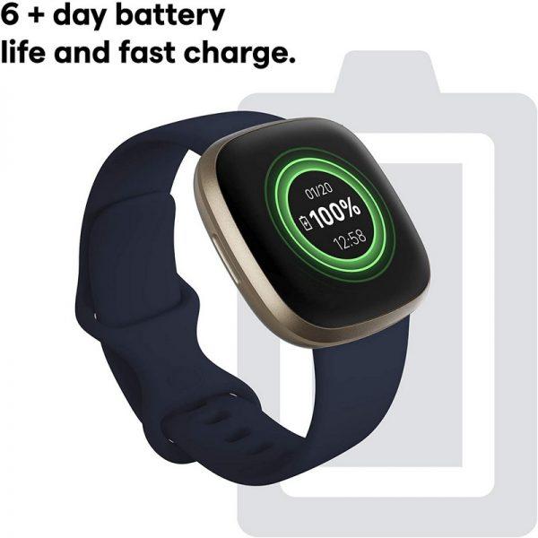 Fitbit Versa 3 Fitness Smart Watch – Black