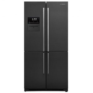 Nordmende 4 Door American Vacuum Fridge Freezer – Black