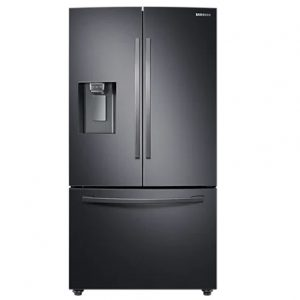 Samsung French Style Plumbed Fridge Freezer – Black