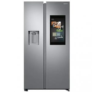 Samsung Family Hub American Plumbed Fridge Freezer – Silver