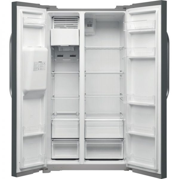 Hotpoint American Style Plumbed Fridge Freezer – Stainless Steel